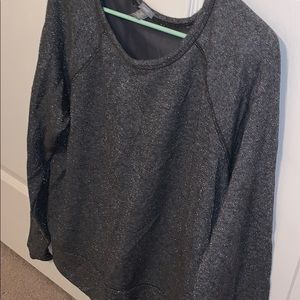 Gray Glitter AERIE Sweater
